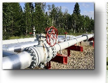 Natural gas pipeline and valve